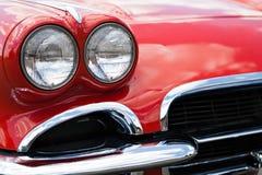 Linternas del coche de deportes de la vendimia Imagenes de archivo