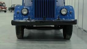 Linternas del coche retro azul