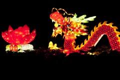 Linternas del dragón del festival foto de archivo