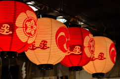 Linternas del festival de Gion, verano de Kyoto Japón fotos de archivo libres de regalías