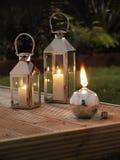 Linternas del jardín Imagen de archivo