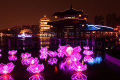 Linternas del jardín del furong del datang de Xi'an Imagenes de archivo