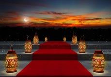 Linternas del kareem del Ramadán, representación 3d ilustración del vector