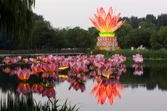 Linternas del loto del festival imagen de archivo
