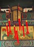 Linternas del templo Foto de archivo libre de regalías