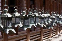 Linternas del templo del Buddhism Fotografía de archivo