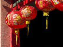 Linternas en día de año nuevo chino Imagenes de archivo