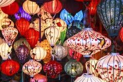 Linternas en la calle vieja Hoi An, Vietnam Imágenes de archivo libres de regalías