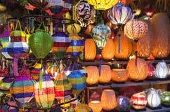 Linternas en la calle vieja Hoi An, Vietnam Foto de archivo