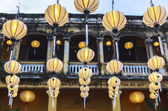Linternas en la calle vieja Hoi An, Vietnam Fotografía de archivo libre de regalías