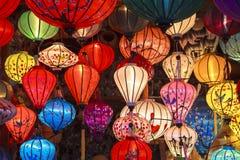 Linternas en la calle vieja Hoi An, Vietnam Foto de archivo libre de regalías