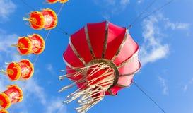 Linternas en Londres por Año Nuevo chino Imágenes de archivo libres de regalías