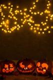 Linternas en oscuridad Foto de archivo