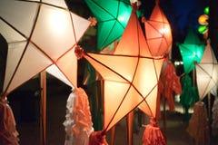 Linternas Filipinas de la Navidad Fotos de archivo