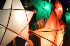 Linternas Filipinas de la Navidad fotografía de archivo libre de regalías