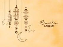 Linternas florales para Ramadan Kareem Fotos de archivo libres de regalías