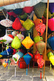 Linternas Handcrafted en la ciudad antigua Hoi An, Vietnam Fotografía de archivo libre de regalías