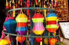 Linternas Handcrafted en la ciudad antigua Hoi An, Vietnam Foto de archivo libre de regalías