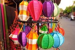 Linternas Handcrafted en la ciudad antigua Hoi An, Vietnam Imagen de archivo