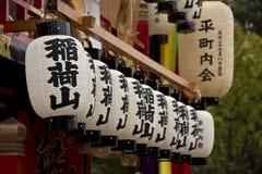 Linternas japonesas del festival foto de archivo