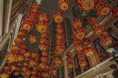 Linternas por Año Nuevo chino en Hong Kong Fotos de archivo