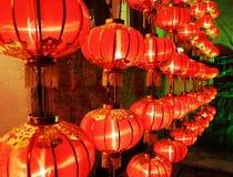 Linternas rojas Fotografía de archivo libre de regalías