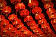 Linternas rojas Fotos de archivo