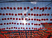 Linternas rojas imágenes de archivo libres de regalías