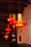 Linternas rojas chinas Imagen de archivo libre de regalías