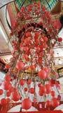 Linternas rojas chinas @ QVB Sydney del Año Nuevo Foto de archivo libre de regalías