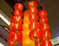 Linternas rojas para las decoraciones en Año Nuevo lunar Fotografía de archivo