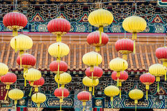 Linternas Sik Sik Yuen Wong Tai Sin Temple Kowloon Hong de Chineses Imagen de archivo
