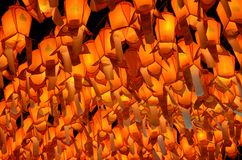 Linternas tailandesas de Lanna. Maravillosamente del festival de Loy Krathong imágenes de archivo libres de regalías