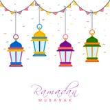 Linternas tradicionales para Ramadan Kareem Foto de archivo libre de regalías