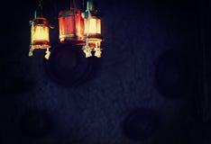 Linternas tradicionales viejas de Asia Central Imagen de archivo