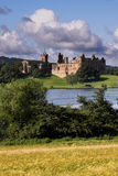 Linthithgow Palace and Cornfield Royalty Free Stock Photo