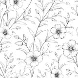 Linum pattern. Linum seamless pattern for fabric swatches. Vector illustration Stock Images
