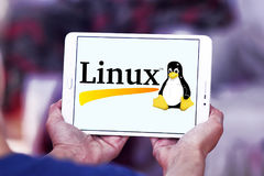 Linux operating system logo stock photography