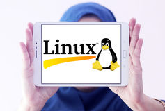 Linux operating system logo royalty free stock images