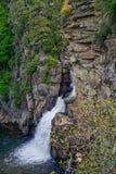 Linville瀑布从上面 库存照片