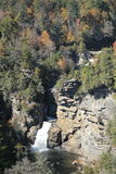 Linville的上部秋天, NC 免版税图库摄影