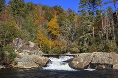Linville秋天的上部部分 免版税库存照片