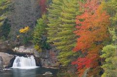 Linville cai cascata Fotografia de Stock