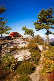 Linville gorge camping Stock Photo