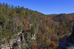 Linville Gorge. Mountains around Linville in the fall in North Carolina Stock Photos