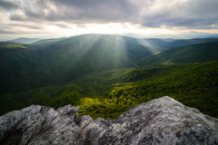 Linville Gorge Sun Rays Royalty Free Stock Photo