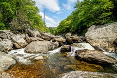 Linville River Cascades Royalty Free Stock Photos