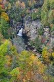 Linville spadki, Błękitny grani Parkway, Pólnocna Karolina Zdjęcia Royalty Free