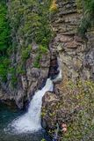 Linville Waterfalls from Above Stock Photo