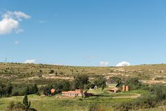 Linwood Guest Farm near Clarens in the Free State Province. CLARENS, SOUTH AFRICA - MARCH 12, 2018: The Linwood Guest Farm near Clarens in the Free State Royalty Free Stock Images